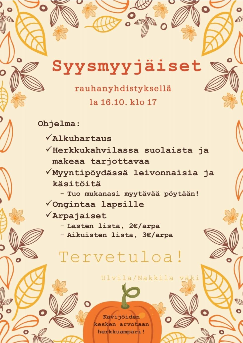 Syysmyyjäiset (Ulvila-Nakkila)